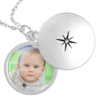 Douane uw foto gepersonaliseerd leuk babymedaillon locket ketting