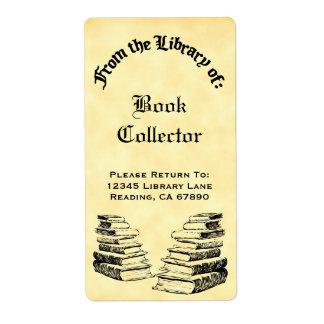 Douane van de Bibliotheek van de Vintage Etiketten