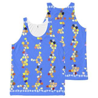 Douane van de Tanktop van vrouwen de blauwe multi All-Over-Print Tank Top