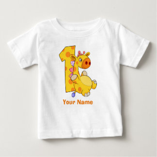 Douane van de Verjaardag van de giraf de Eerste Baby T Shirts