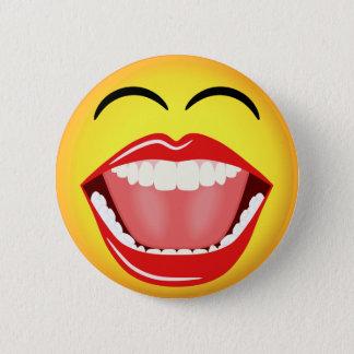 Douane van het Gezicht LOL van Smiley de Gele Ronde Button 5,7 Cm
