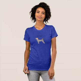 Douane van het overhemds de blauwe honden van het t shirt