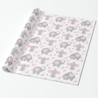 Douche van het Meisje van het Baby van de Safari Cadeaupapier