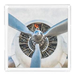 Douglas gelijkstroom-3 Vliegtuig. Propeller Acryl Dienblad