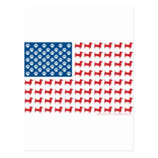 Doxie - de Patriottische Amerikaanse Vlag van de Briefkaart