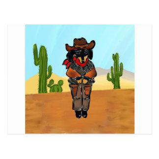 Doxie Gunslinger Briefkaart