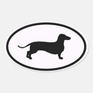 doxie ovale sticker