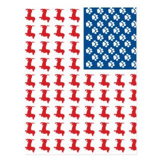 Doxie-V.S.-vlag-voor-Darks Briefkaart