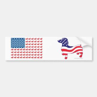 Doxie-V.S.-vlag-voor-Darks Bumpersticker