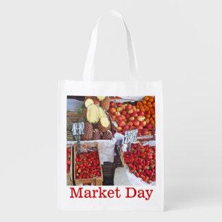 Dozen Fruit - de Dag van de Markt Herbruikbare Boodschappentas