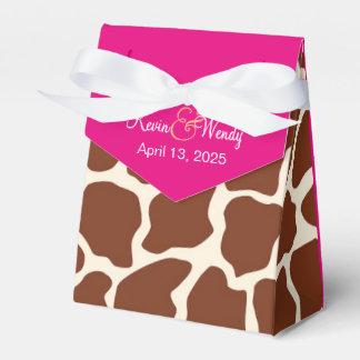 Dozen van de Gunst van het Huwelijk van de Giraf Bedankdoosjes