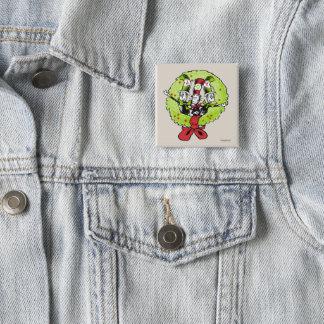 Dr. Seuss | Grinch | Vreugde van Kerstmis Whoville Vierkante Button 5,1 Cm