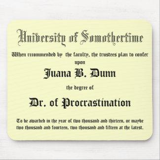 Dr. van Uitstel, grappendiploma Muismat