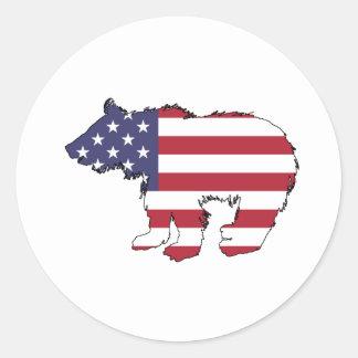 "Draag ""Amerikaanse Vlag "" Ronde Sticker"