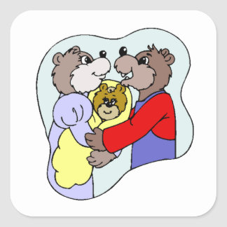 Draag Familie Vierkant Sticker