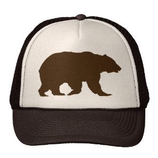 Draag het Bruine Silhouet van de Grizzly van het Petten Met Netje