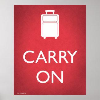 Draag het Grappige Poster van de Bagage