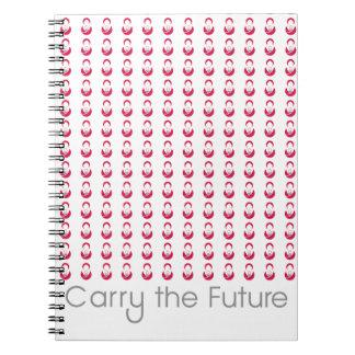 Draag het Toekomstige Notitieboekje Notitieboek