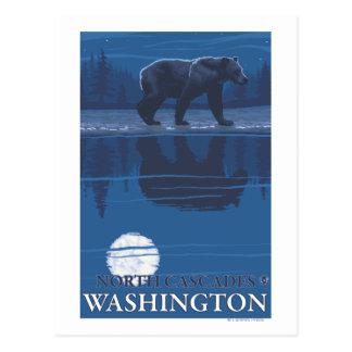 Draag in Maanlicht - de Cascades van het Noorden, Briefkaart