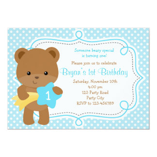 Draag Uitnodiging (1st Verjaardag/Baby shower) -