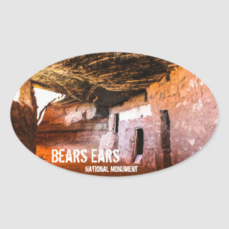 Draagt het Nationale Monument van Oren Ovale Sticker