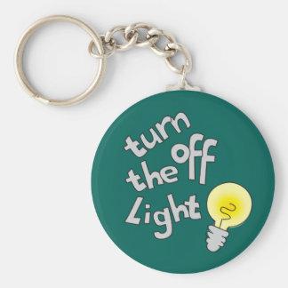 Draai van lichte genoemd grafisch keychain sleutelhanger