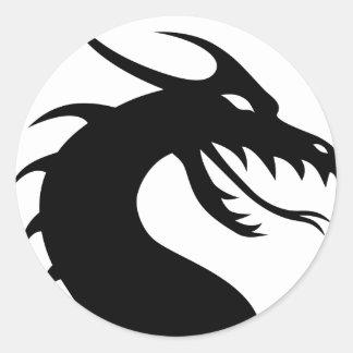 draak-149393 ronde sticker