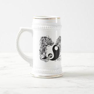 draak en tijger yin yang symbool bierpul