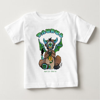 Draak van het de dierenriembaby van de Stier de Baby T Shirts