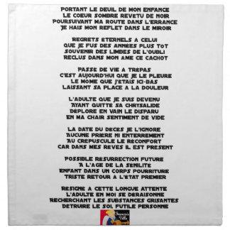 Dragend de Rouw van mijn Kinderjaren - Gedicht Servet