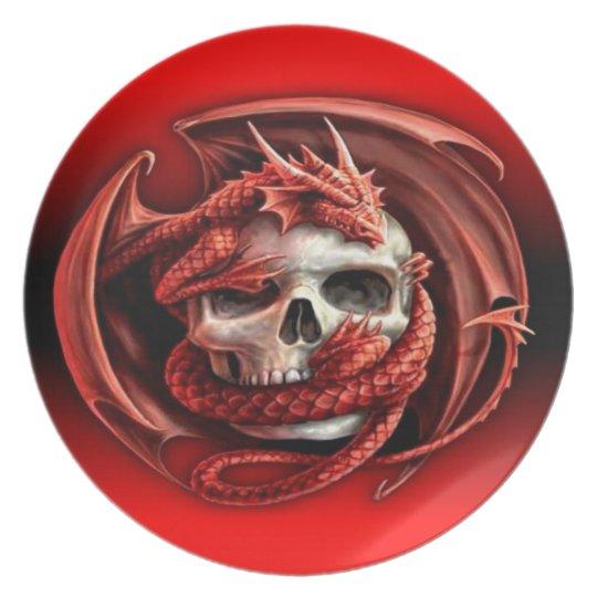 dragon skull melamine+bord