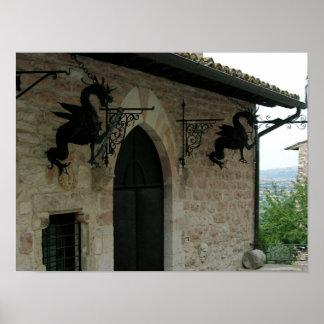 Draken van Assisi Poster