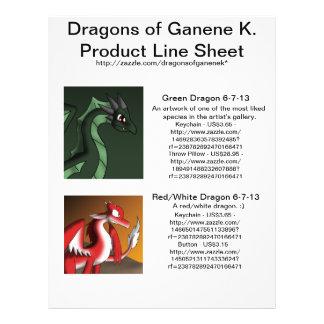 Draken van Ganene K. het Blad van de Lijn van het Flyer 21,6 X 27,9 Cm