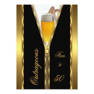 Drank van het Bier van de buitensporige Pret & van 11,4x15,9 Uitnodiging Kaart