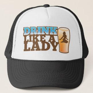 Drank zoals een DAME! ontwerp Trucker Pet