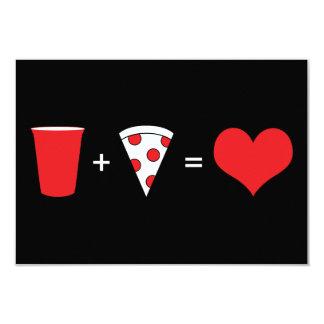 dranken + pizza = liefde kaart