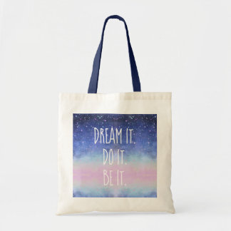 Dream It Do It zij het het Sterrige Canvas tas van