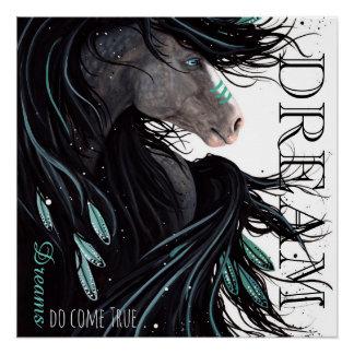 Dreams Do Come het True Poster van het Paard door