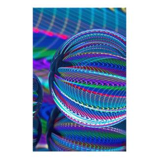 Drie ballen van het Glas in kleur Briefpapier