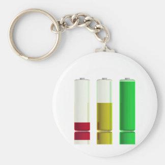 Drie batterijen sleutelhanger