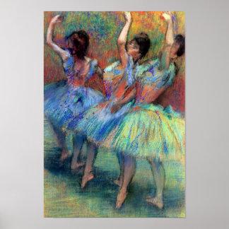 Drie Dansers ontgassen langs Poster