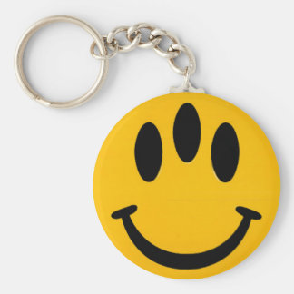 Drie-Eyed Smiley Keychain Sleutelhanger