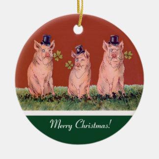 Drie Gelukkige Varkens - het Grappige Ornament van