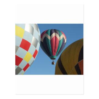 Drie hete luchtballons briefkaart