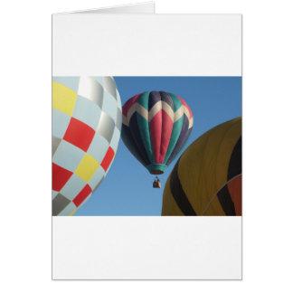 Drie hete luchtballons wenskaart
