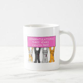 Drie jaar katten van de kanker de vrije viering koffiemok