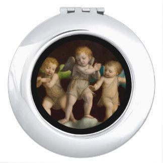 Drie Kleine Cherubijnen of Engelen Makeup Spiegel