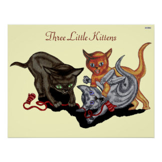 Drie Kleine Katjes Poster