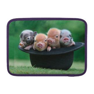 Drie kleine varkens - drie varkens - varkenspet MacBook air beschermhoes