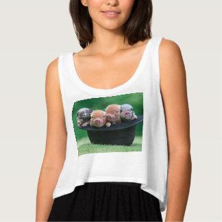 Drie kleine varkens - drie varkens - varkenspet tanktop
